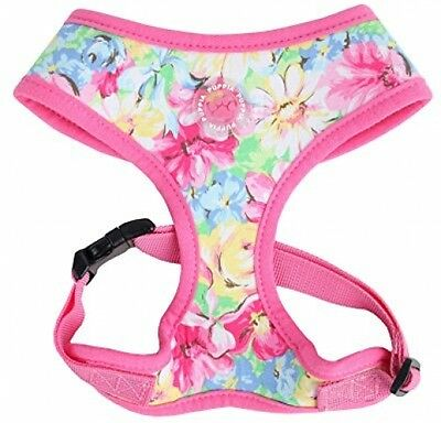 Puppia Spring Garden Harness, Pink, Large