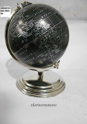Nautical World Globe Collectible Antique Black Antique Finish Nautical Globe
