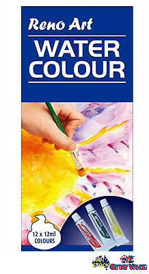 Reno Art 12 Tubes 12ml Watercolor Set Water Colour Artist Painting Paint WC1212S