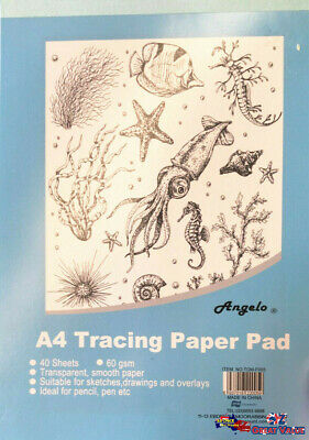 Reno Art Tracing Paper Pad A4 30 Sheets 75gsm For Sketches & Overlays | TPADP-A4