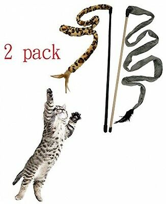 Baby Pet ®Soft Interactive Flying Natural Bird Feather Toys For Kitten Cat