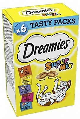 Dreamies Christmas Cat Treats Super Mix Of Tantalising Treats - 3 X 6 Packs 18