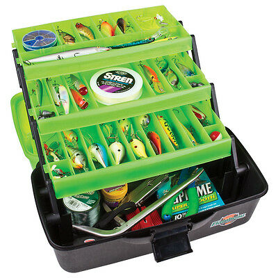 3 TRAY cantilever TACKLE BOX Fishing storage Classic Series Flambeau green