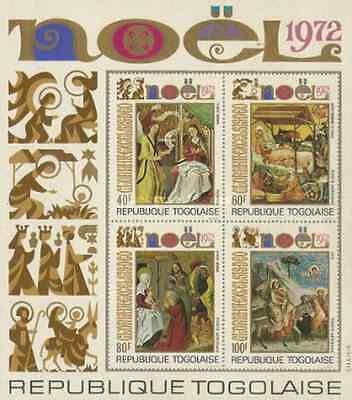 Timbres Religion Noel Arts Tableaux Togo BF66 * lot 16530