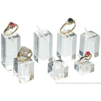 7 Square Clear Acrylic Ring Displays