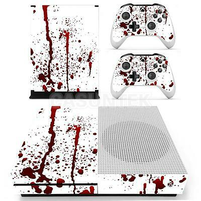 Body Case Skin Decal Sticker for Xbox One S Console & 2 Controller