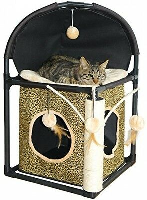 Dobar 43103 Cat Scratching Tree Made Of High-Quality Plastic Frame With Textile
