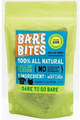 ***Bare Bites - 100% Natural Beef Liver Dog and Cat Treats - 59g***