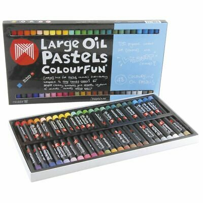 Micador Colourfun Crayons Oil Pastels Large - 48 Pack