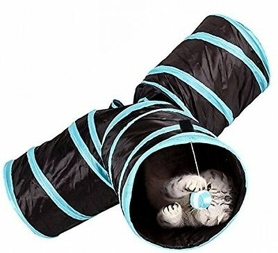 Sand's Clover Pet Cat Tunnel - Collapsible 3 Way Play Toy To Keep Little Pet