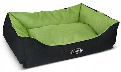Scruffs Expedition Water Resistant Pet Dog / Cat Box Bed, Lime - Large