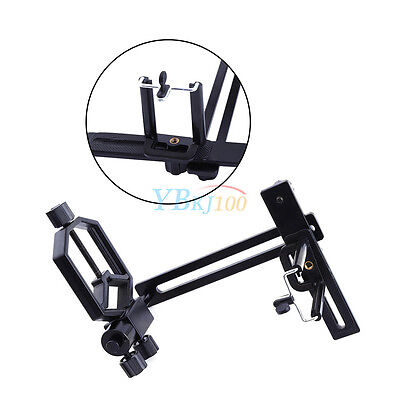 Universal Telescope Camera Mount Metal Spotting scope Cell Phone Bracket Adapter