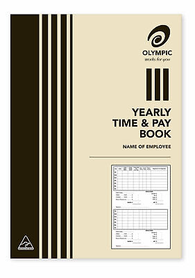 Olympic A5 Yearly Time And Wage Book 32 Page 210x148