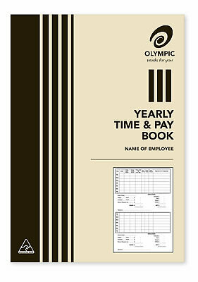 Olympic Yearly Time And Wage Book 32 Page 210x148