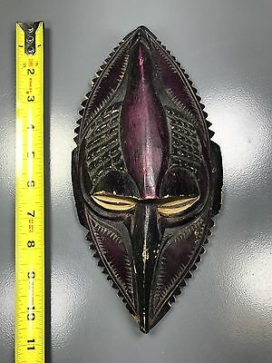 """Private Collector - A Beautiful 10""""h X 5""""w African Wooden """"detailed Wood Mask"""""""