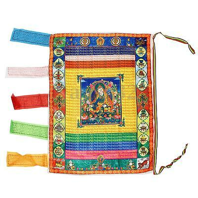 Tibetan Silk Wind Horse Flag Tibetan Guanyin Mantra Buddhism Buddha Prayer Flag