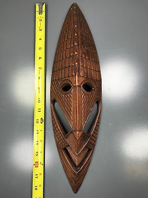 """Private Collector - A Beautiful 18.5""""h X 6""""w African Wooden """"detailed Wood Mask"""""""