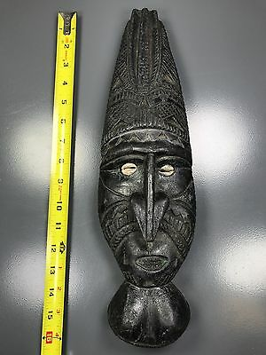 """Private Collector - A Beautiful 16""""h X 5.5""""w African Wooden """"detailed Wood Mask"""""""
