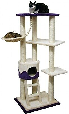 Kerbl Cat Tree Lilly II, Beige/ Purple