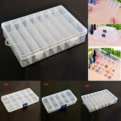 Portable Detachable Jewelry Ring Display Organizer Box Tray Holder Storage Case