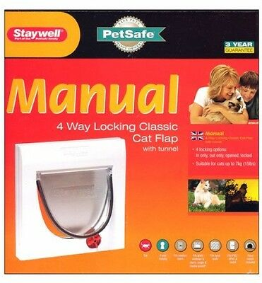Staywell 917 - Cat Flap 4 Way Locking Door