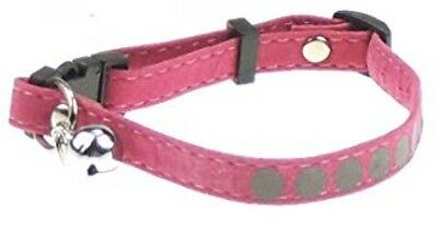 Lovely Soft Safety Release Reflective With Bell Kitten Cat Collar Pink