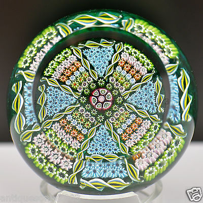 PERTHSHIRE PP33 Formal Garden Millefiori Scottish Glass Paperweight LIMITED 1978