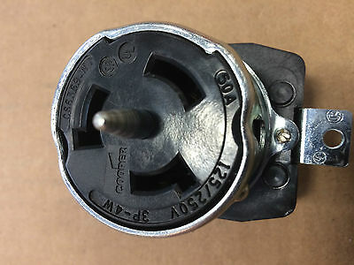 Cooper CS6369 3 Pole 4 Wire 50A 125/250V Locking Receptacle