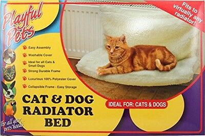 Playful Pets Pet Cat Dog Animal Kitten Puppy Radiator Warm Fleece Basket Cradle