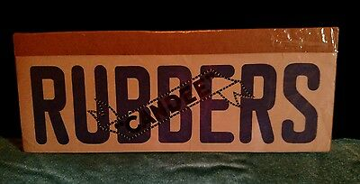 "Vintage ""RUBBERS Candee"" Shoe Covers Sign"