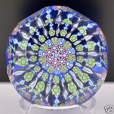 PERTHSHIRE Miniature Flower PP125A Millefiori Scottish Glass Paperweight LIMITED