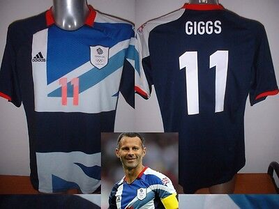 Team GB Shirt Jersey Large GIGGS Football Soccer Adidas Manchester United Wales