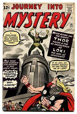 Journey Into Mystery #85 comic book origin/first appearance of LOKI Kirby
