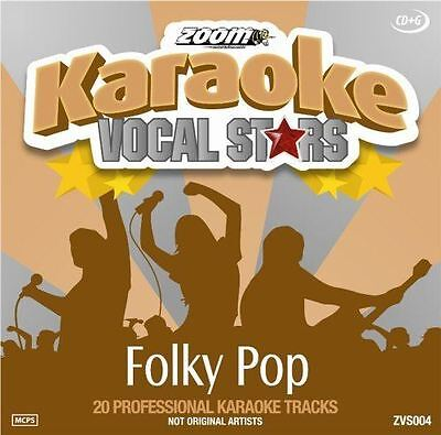 Zoom Karaoke CD+G Folky Pop Vocal Stars Series New Sealed