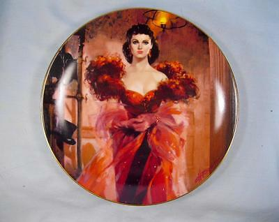 Scarletts Resolve Collector Plate W S George Fine China Gone With The Wind (O)