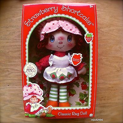 STRAWBERRY SHORTCAKE RAG DOLL Vintage Reproduction Original 1980s Design Classic