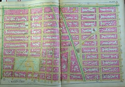 1891 Robinson Manhattan Greenwich Village Washington Square Park Copy Atlas Map