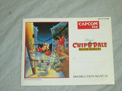Chip n dale rescue rangers (  nes) manual only good