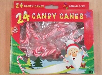 Red & White Mini Christmas Candy Canes Pk 24