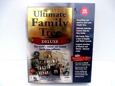 Ultimate Family Tree Deluxe PC CD ROM - UK version - Xmas? ***FACTORY SEALED***