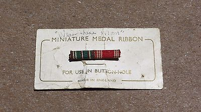 Ww2 Wwii Us Army Airborne Military Miniature English Made Ribbon Bar Lapel