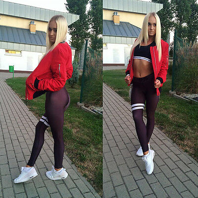 Fashion Womens Yoga Fitness Leggings Running Gym Stretch Sports Pants Trousers