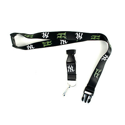 New York Yankees Lanyard, Black Neon