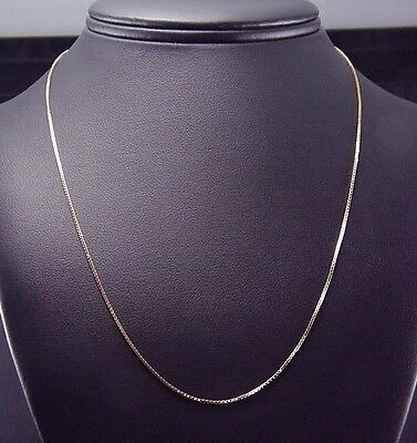 Perfect Estate 14k Yellow Gold Italian 18 inch Box Link Necklace Chain 2.1 Gr