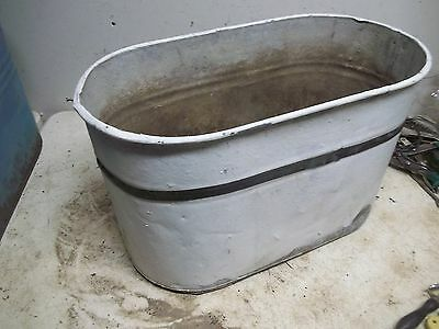 Old Painted Steel Wash Boiler Laundry Tub for  Flower Pot Garden Planter