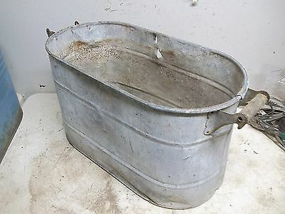 Rough Old Steel Wash Boiler Laundry Tub for  Flower Pot Garden Planter