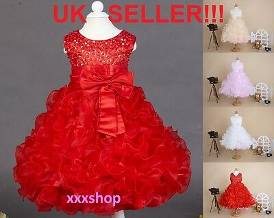 Girls Christmas/Bridesmaid/Party/Princess/Wedding/Christening/COMMUNION Dress