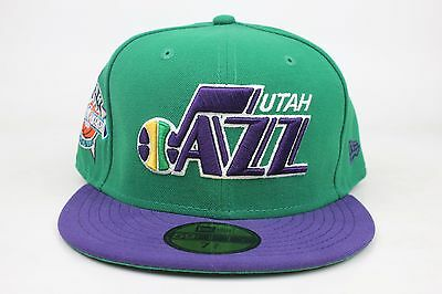 new arrival db3c1 307d7 Utah Jazz Green   Purple   1993 All Star Weekend Side New Era 59Fifty  Fitted Hat