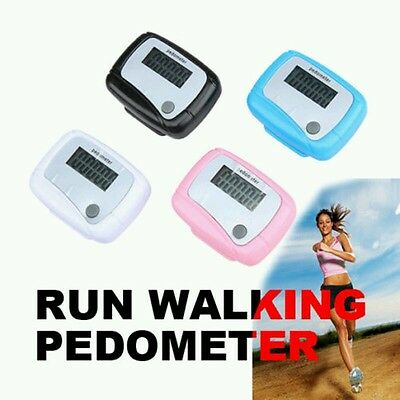 LCD Pedometer Digital Step Run Distance Walking Counter Digital Pocket -PM1