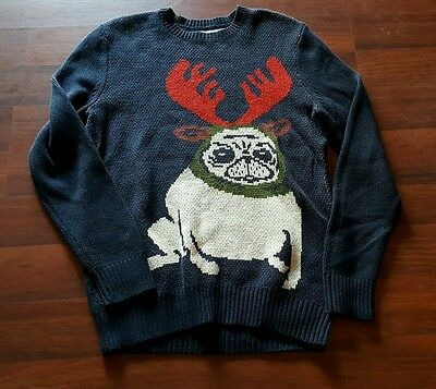 Urban Outfitters Pug Ugly Christmas sweater, size Mens small, S, Character Hero